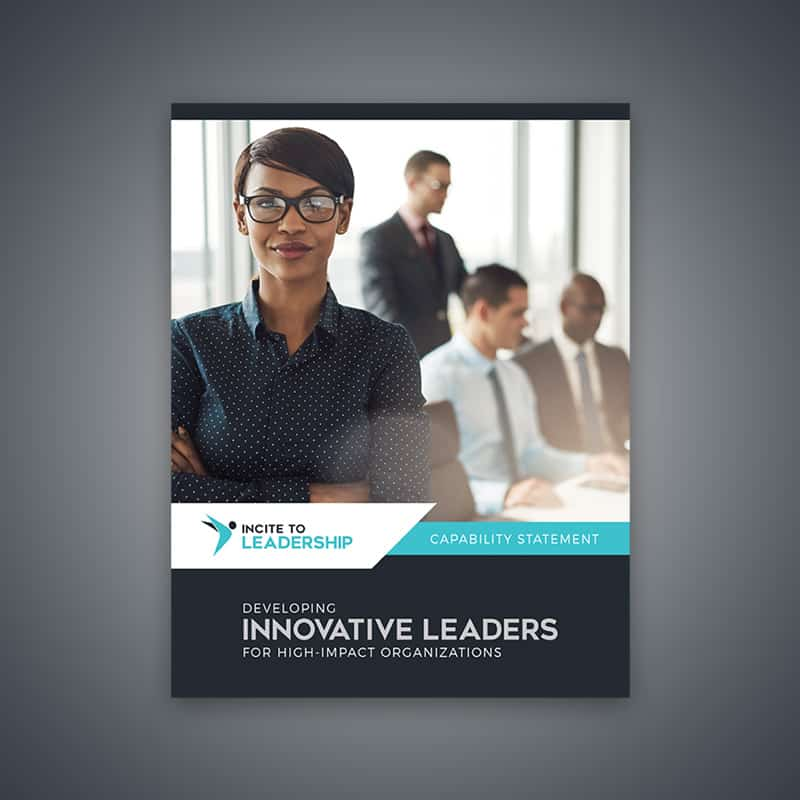 Brochure Design for Incite to Leadership - cover page