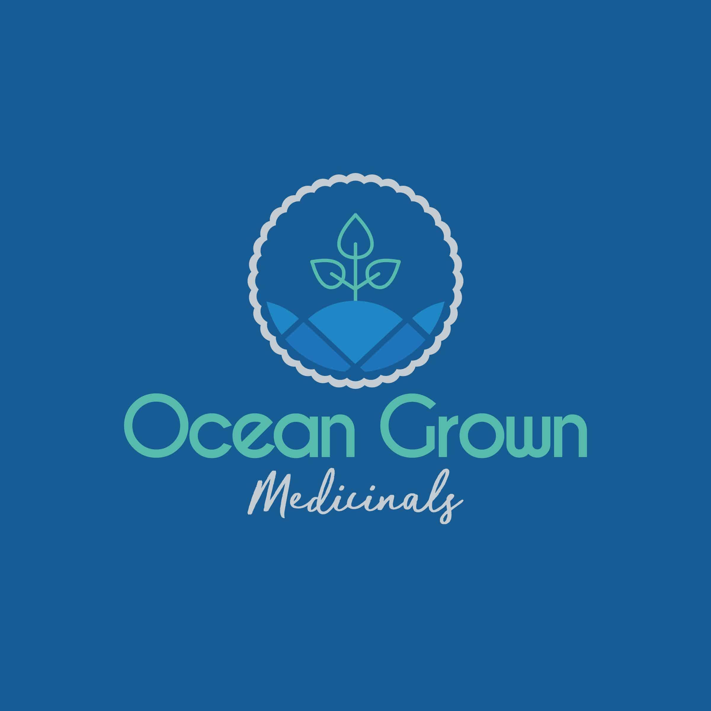 Logo design and branding for Ocean Grown Medicinals