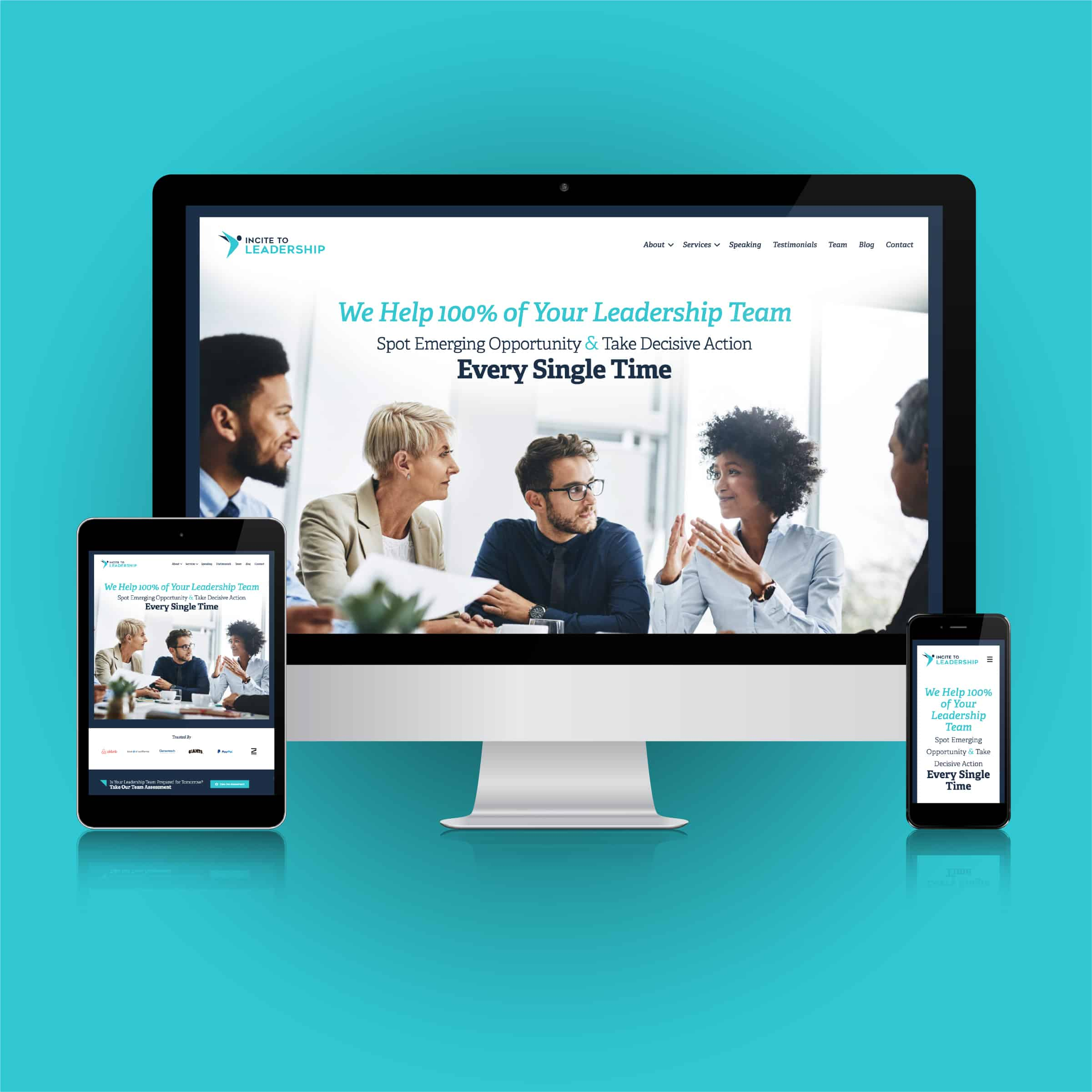 Website Design for Executive Coach and Professional Speaker, Jo Ilfeld, PhD of Incite to Leadership