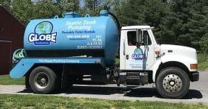 Fleet design vehicle graphics for Globe Sanitation in Maryland.