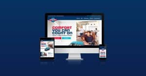 A website design for Innovative Comfort Solutions in Maryland.